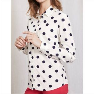 Boden Classic Dot Button Down Shirt